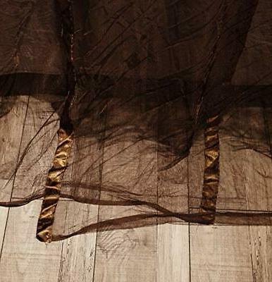 4 Corners Curtain Canopy - Coffee