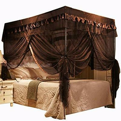 4 corners post bed curtain canopy