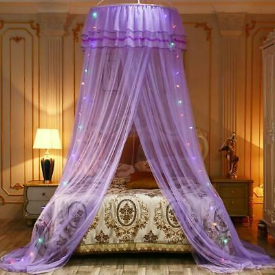 Dome Lace Canopy Mosquito Netting Mesh Bed Fly Screen Net