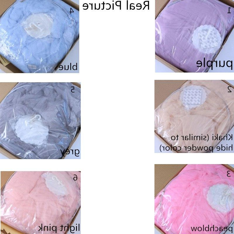 7 Colors Hanging Baby <font><b>Bed</b></font> <font><b>Canopy</b></font> Bedcover Curtain Baby Kids Playing Home Decor