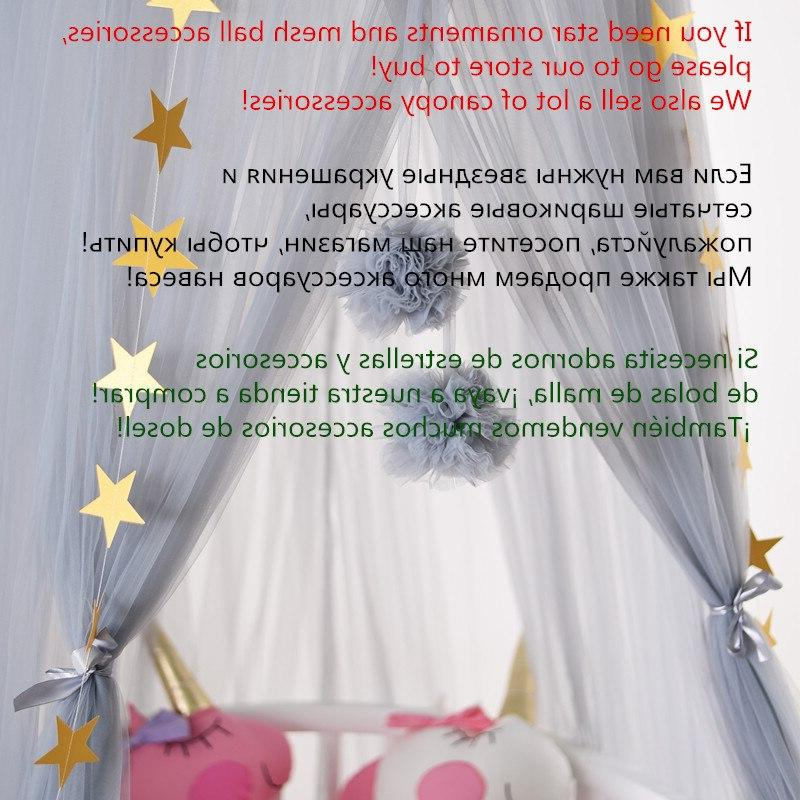7 Hanging Baby <font><b>Canopy</b></font> Cotton Mosquito Bedcover Curtain For Baby Kids Reading Decor