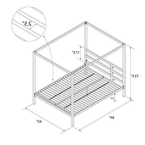 DHP Modern Bed Frame, Classic Size,