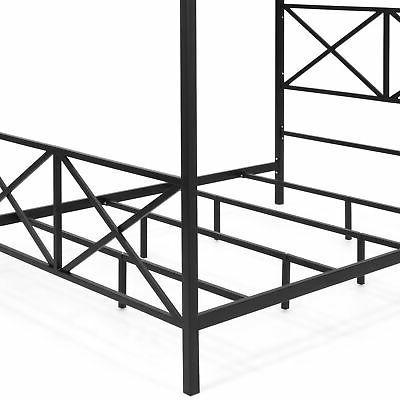 BCP Modern 4 Post Queen Bed Frame