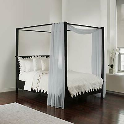 bed canopy scarf grey