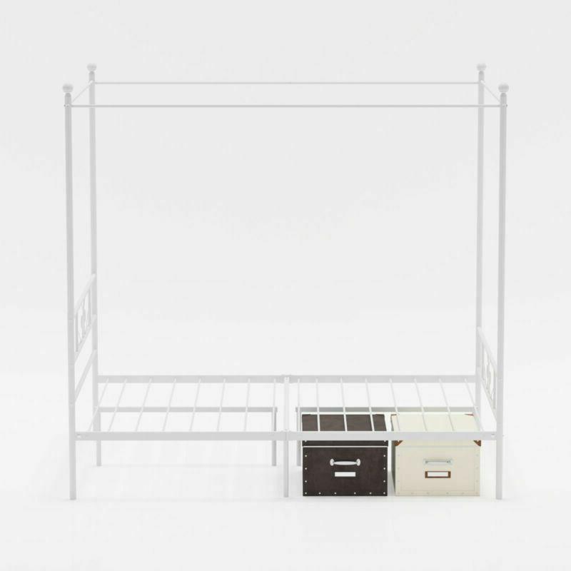 Canopy Frame Platform Queen Full Twin Size Mattress Bedroom