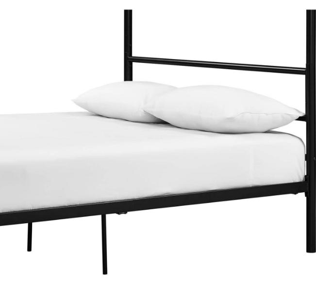 Classic Metal Framed Bed w/ Built-in