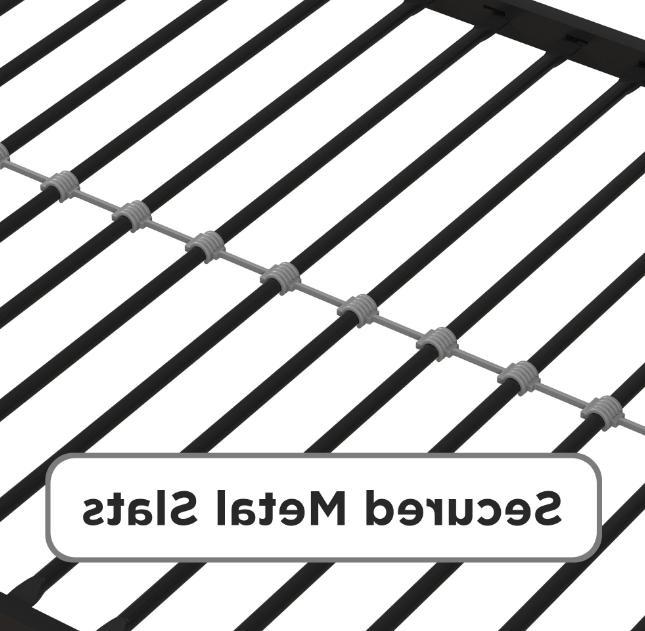 Classic Design Metal Canopy Platform Bed