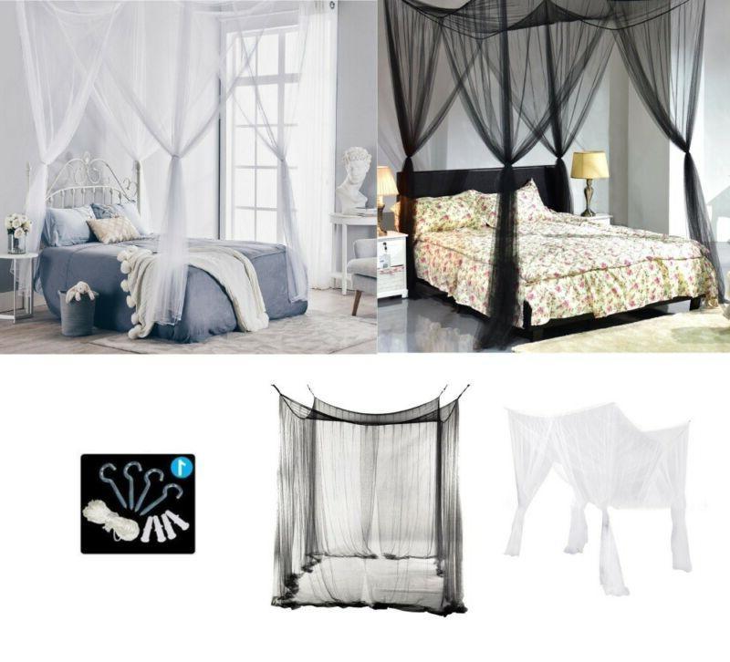 Classical 4 Corner Bed Queen White/Black