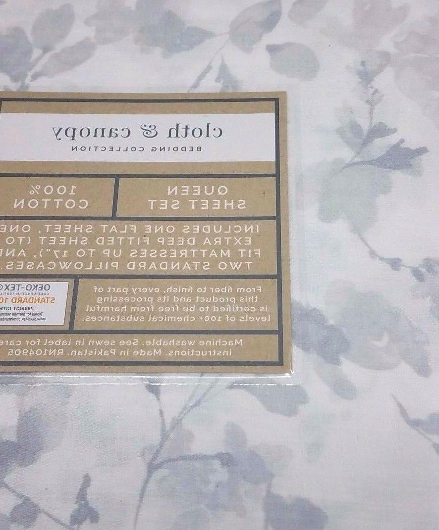 Cloth Collection Cotton Sheet Set, Floral