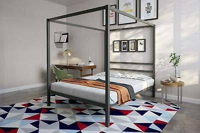 dhp modern canopy bed gunmetal gray multiple