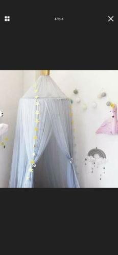 Dix-Rainbow Yarn Crib Netting Girls Canopy