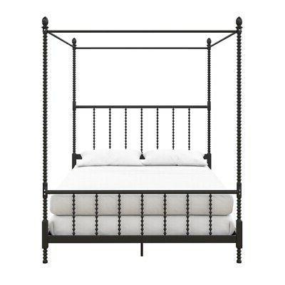 DHP Metal Canopy Bed Frame Black