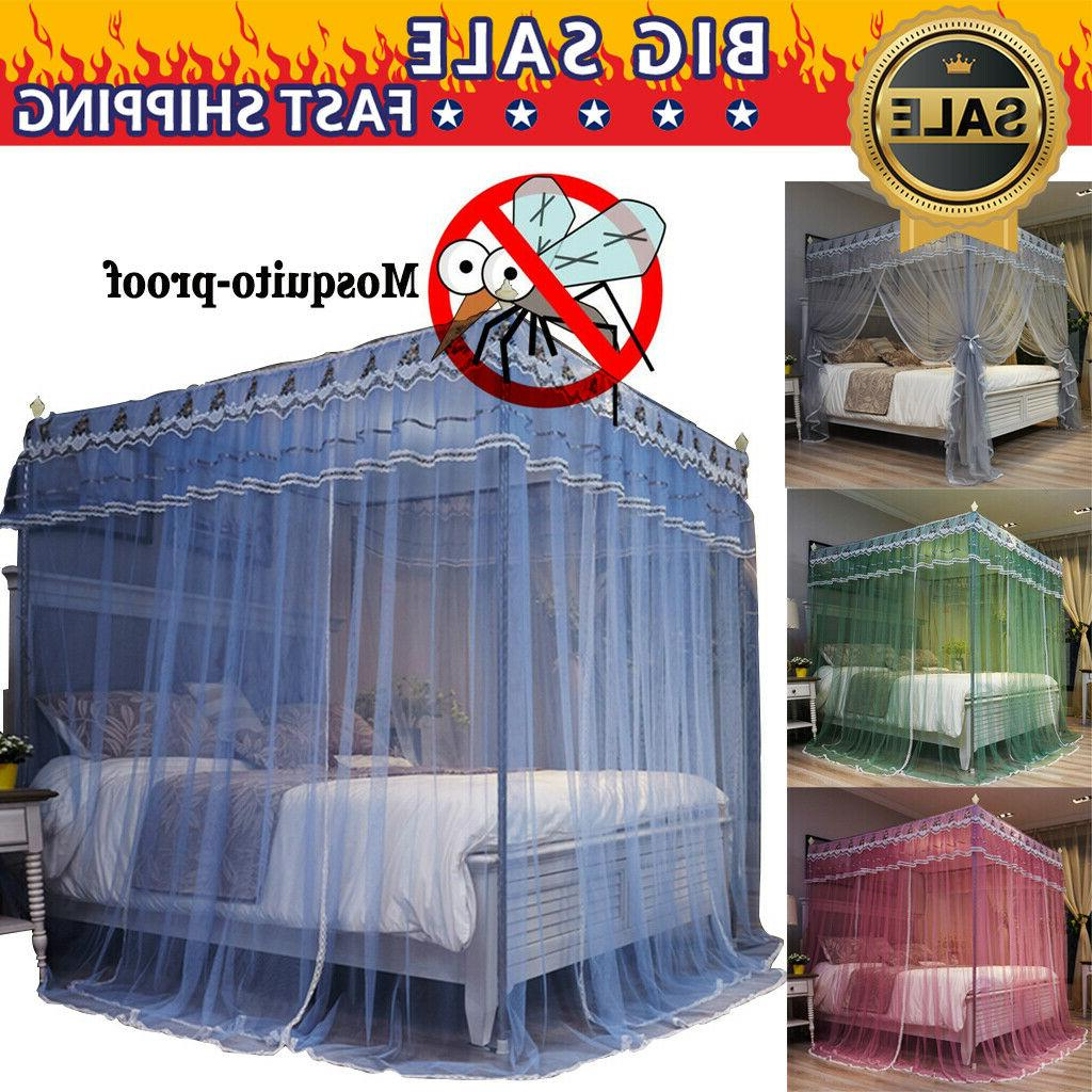 european style mosquitoproof 4 corner bed curtain