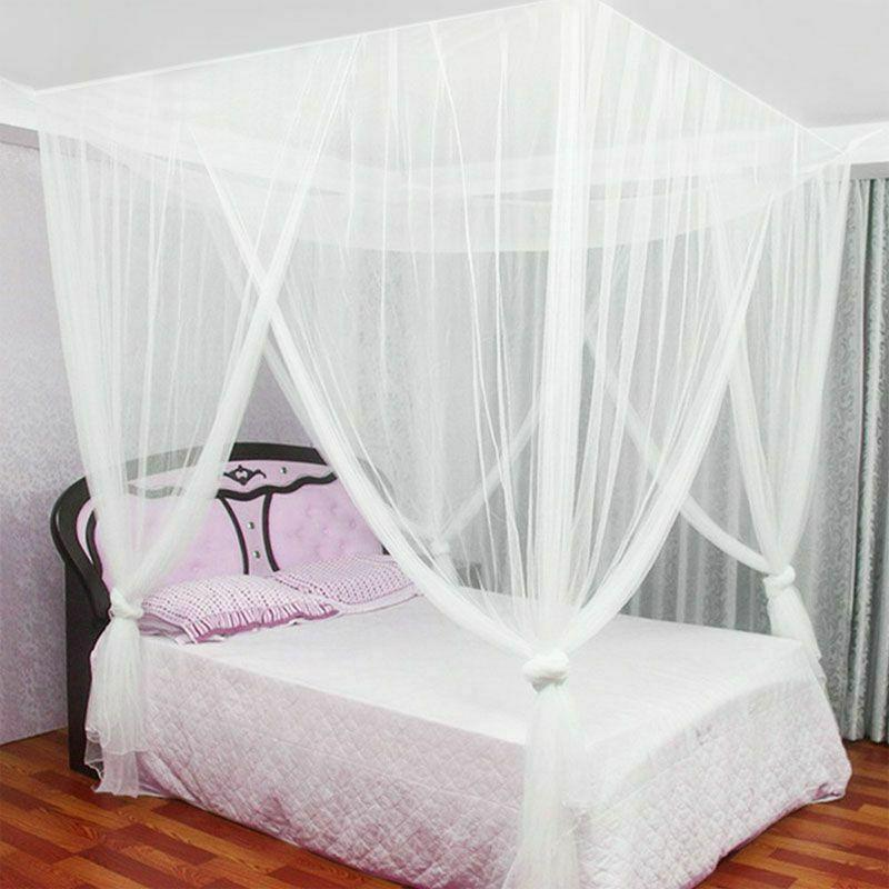 European Style Post Canopy Mosquito Net Corner Decor