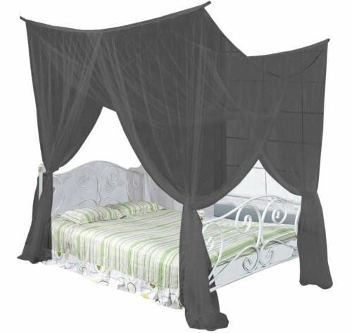 four corner post elegant mosquito net bed