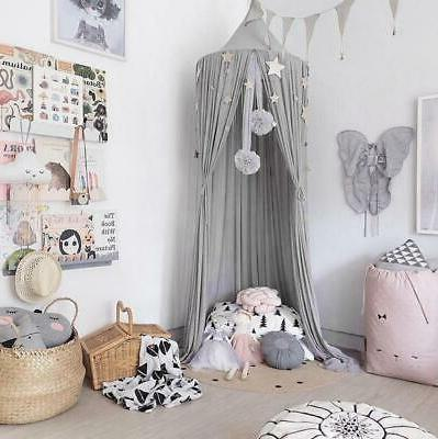 Hanging Bed Canopy Girls Dome Round Chiffon Bed cover Mosqui