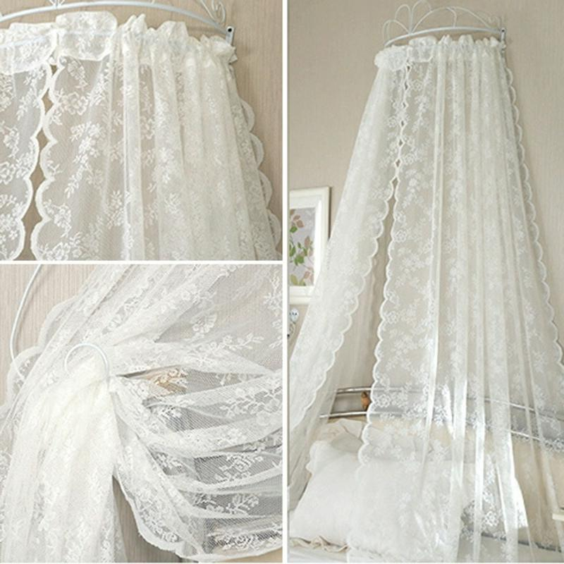 Lace Curtains Insect <font><b>Bed</b></font> Netting <font><b>Drape</b></font> Panel Leaf Door Curtain for Living
