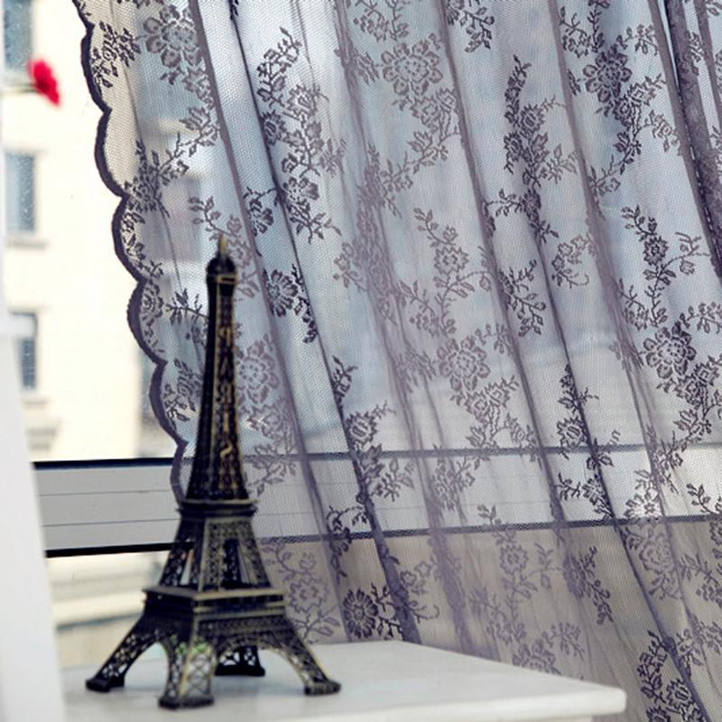 Lace Voile Curtains Insect <font><b>Bed</b></font> Netting <font><b>Drape</b></font> Door Window Curtain for Living