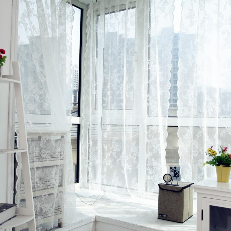 Lace Curtains Voile Tulle Curtains Insect <font><b>Bed</b></