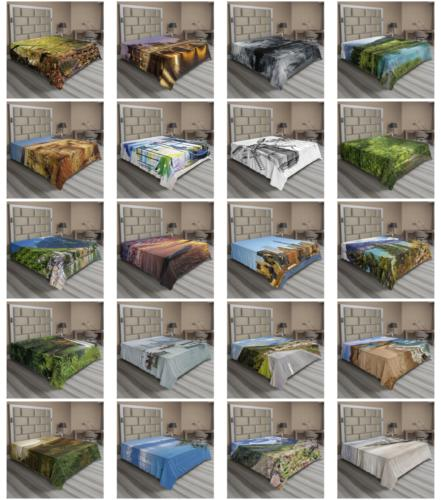 landscape mountain flat sheet top sheet decorative