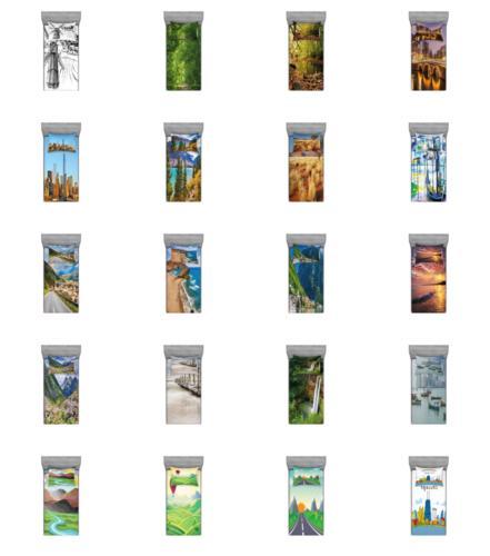 Ambesonne Landscape Scene Sheet Sizes