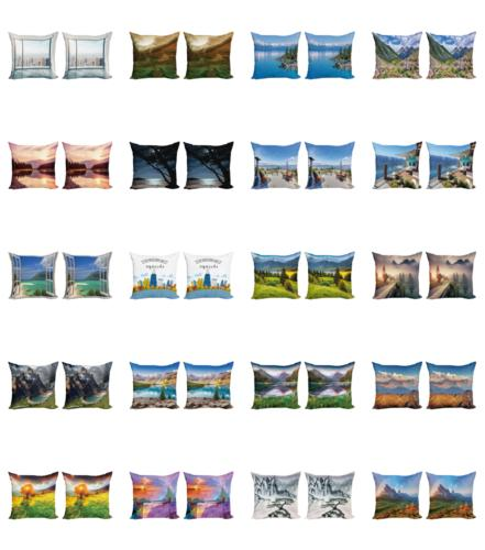 Ambesonne Landscape View Cushion Cover Set of for Couch