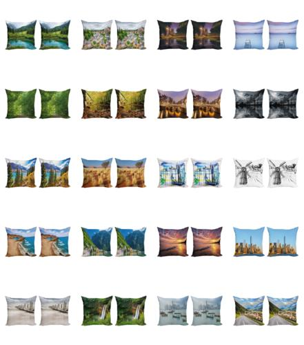 Ambesonne Landscape Cover Set of for Couch and