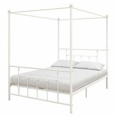 DHP Canopy Bed Frame White