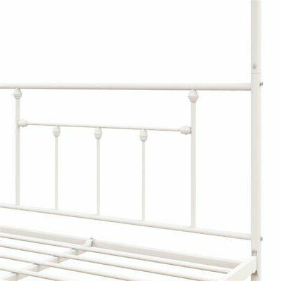 DHP Manila Metal Bed in Frame White