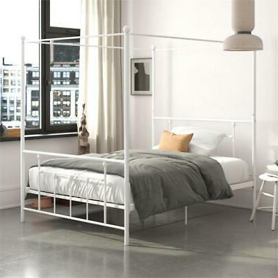 manila metal canopy bed in queen size