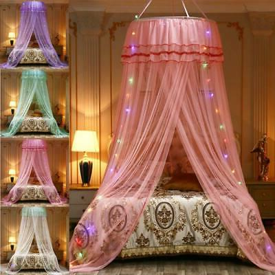 Dome Lace Bed Canopy Mosquito Netting Mesh Princess Bed Fly
