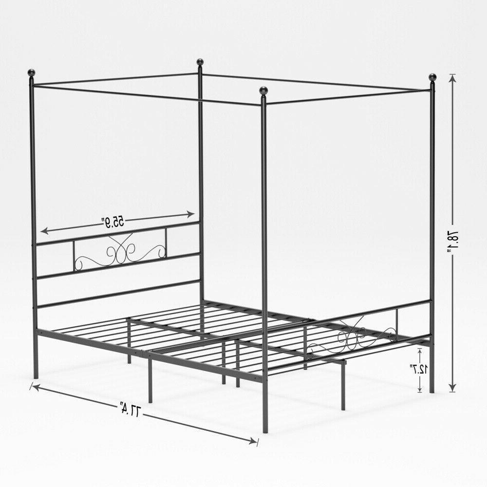 Modern Canopy Frame W/ Queen