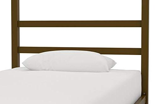 DHP Modern with Built-in Headboard, Classic Design, Gold