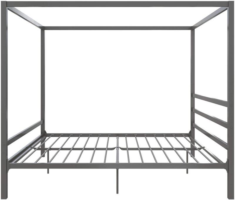 King Size Gray Metal Headboard
