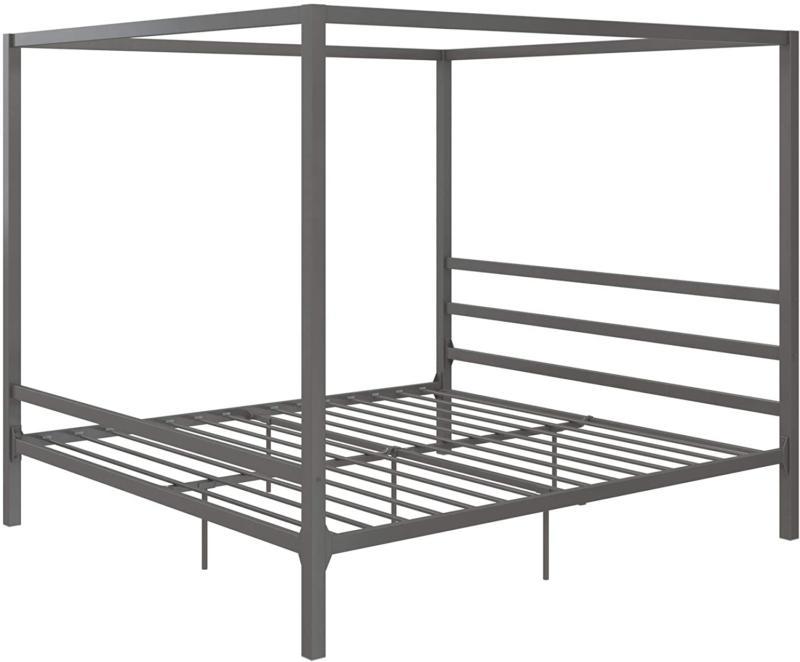 King Metal Bed Frame Headboard Furniture