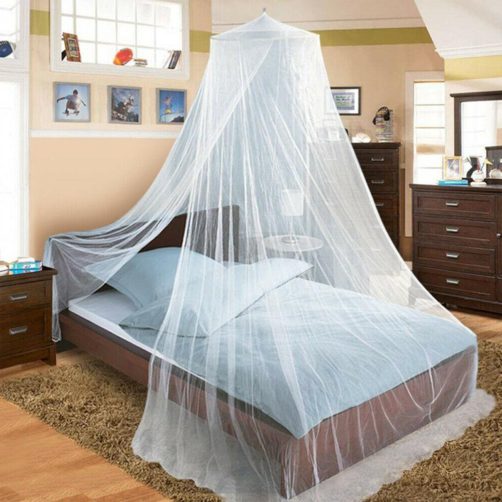 Mosquito Net Bed Queen Size Dome Bedding Lace Canopy Elegant