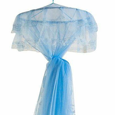 New Round Lace Dome Princess Net Aqua Blue