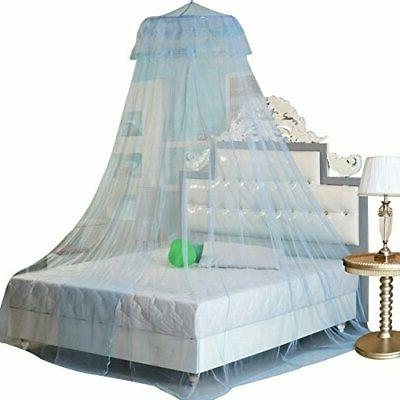 new round lace curtain dome bed canopy