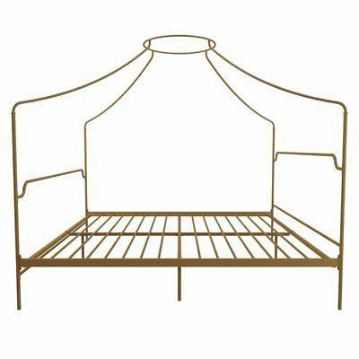 Novogratz Camilla Metal Bed in Frame Gold