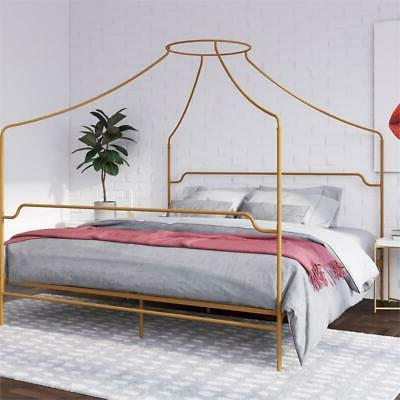 novogratz camilla metal canopy bed in king