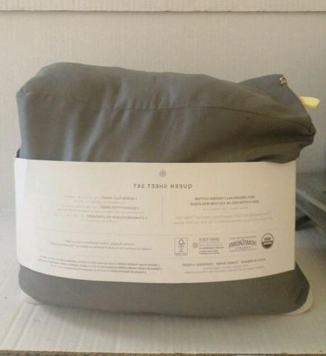 UNDER THE CANOPY Organic Cotton SHEET SET SOLID