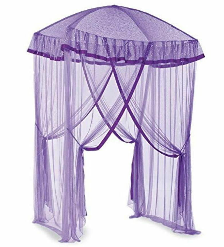 Over Bed Canopy Girls With Lights Sparkling Kids Net