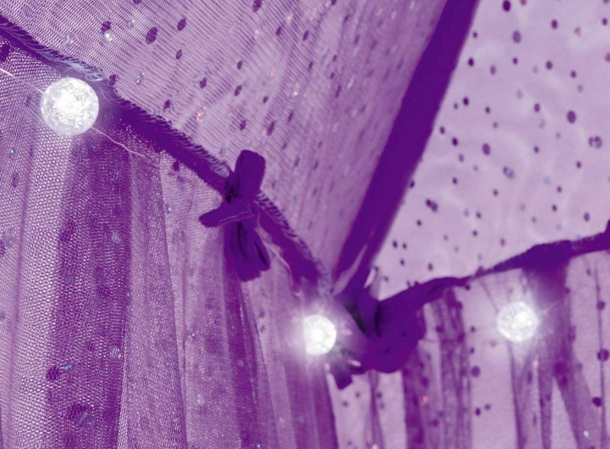 Over Bed Girls Princess Sparkling Bedroom Net