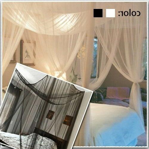 Queen King Home 4Corner Mosquito Net Bar Canopy US