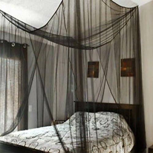 4Corner Bed Mosquito Net Bar Curtain Canopy