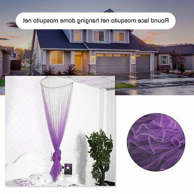 Solid Mosquito Net Queen Size Dome Foldable Elegant Princess