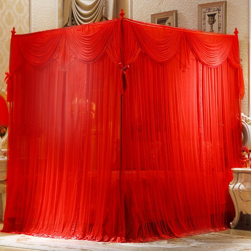 wedding bed decoration mosquito net and frame