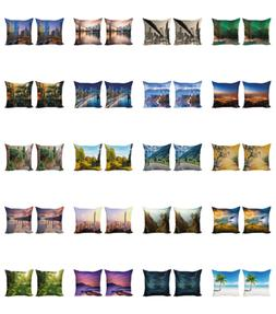 Ambesonne Landscape View Cushion Cover Set of 2 for Couch an