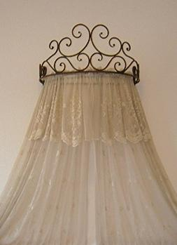 Octorose Metal Wall Teester Bed Canopy Drapery Crown Hardwar
