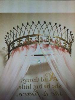 Octorose  Metal Wall Teester Bed Canopy Drapery Bed Crown Ha